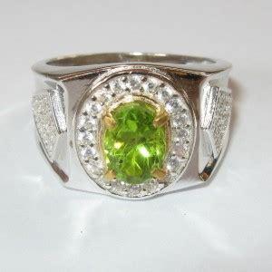 Peridot In Silver Ring With Memo cincin silver ring 10 5us batu permata peridot 1 71 carat