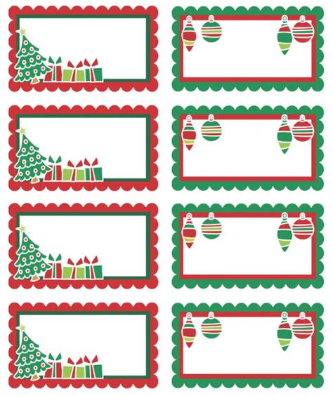free printable christmas tags that you can type on free printable adorable christmas holiday labels can use