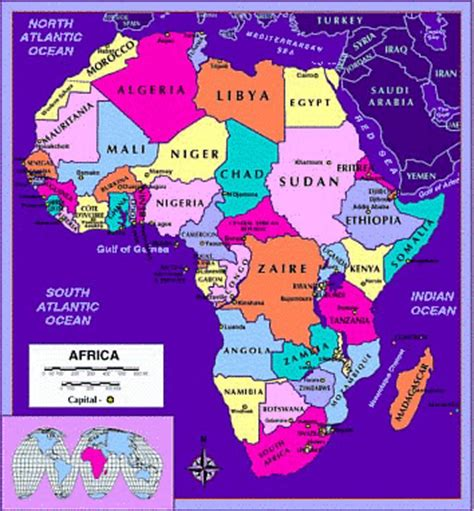 map of africa with country names and capitals africa map countries and capitals see the map of