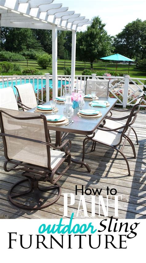 Paint Patio Furniture Metal - how to paint outdoor furniture with sling seats inmyownstyle