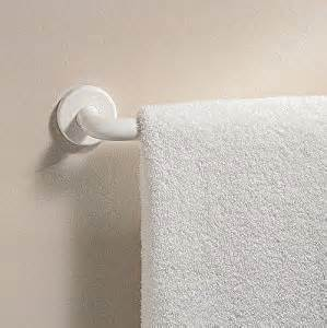 white towel bars for bathrooms interdesign wall mount bathroom towel bar