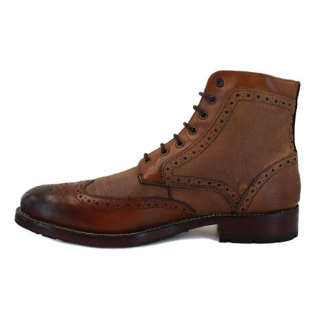 ted baker sealls 9 12809 mens laced leather brogue ankle