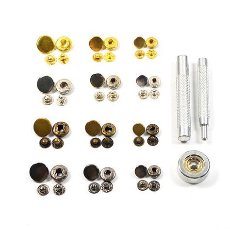 4 Colors Metal Stud aliexpress buy 10pcs 10mm mix 4 colors metal snap fasteners with press tool poppers press