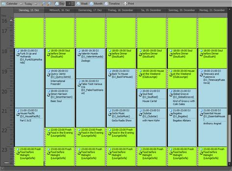 radio program schedule template radio42 proppfrexx onair