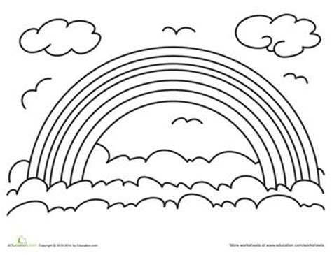 rainbow coloring pages for preschool az coloring pages 17 best images about rainbows illustration craft on