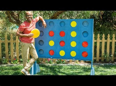 how to diy backyard connect four hallmark channel