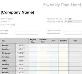 Weekly Job Report Template bi weekly timesheet template best business template