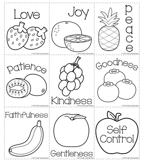 printable postcards for sunday school fruit of the spirit memory match cards early learning ideas