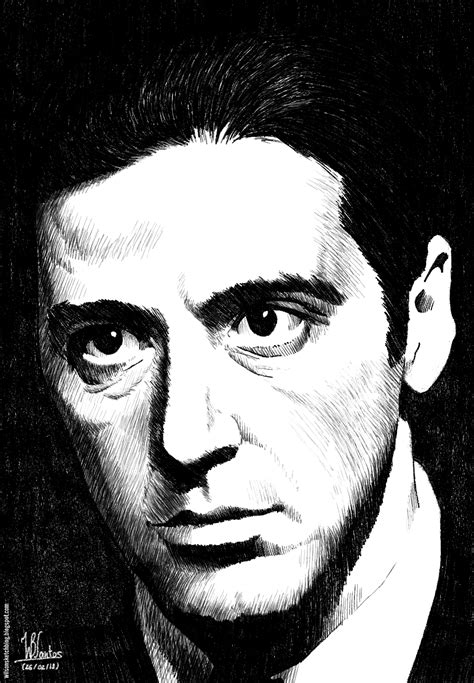 al pacino ink drawing