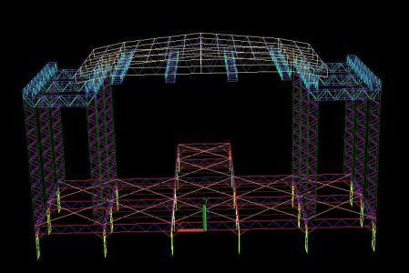 scaffold concert stage dwg block  autocad designs cad
