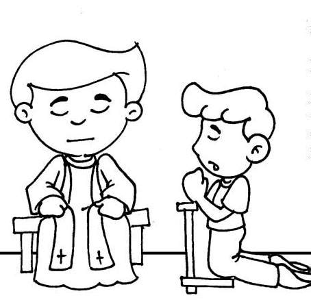 catholic reconciliation coloring pages coloring pages