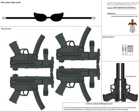 Papercraft Guns Templates - minecraft papercraft halo weapons pictures to pin on