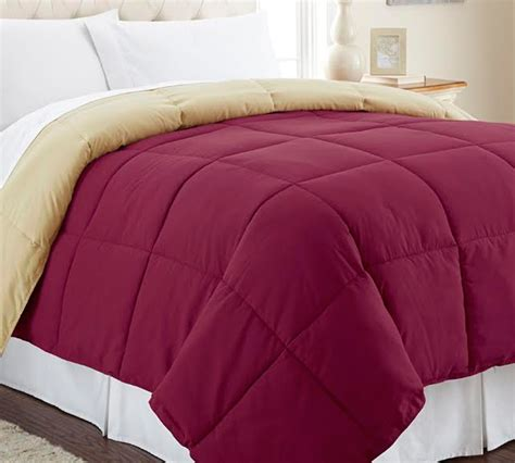 cranberry comforter down alternative reversible comforter antique gold cranberry