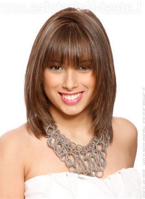 Pictures Of Medium Hairstyles With Bangs by Medium Length Hairstyle With Bangs Models Picture