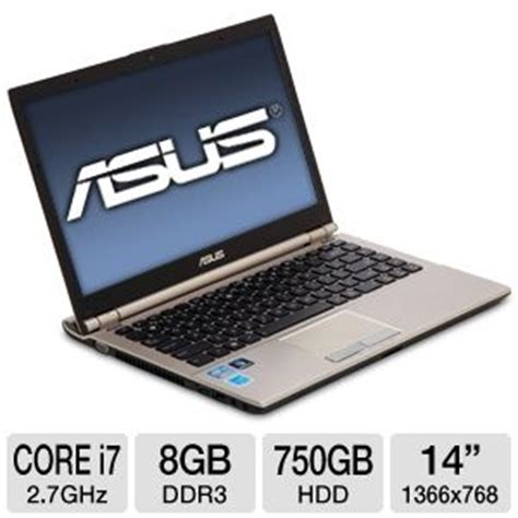 Asus Laptop I7 Used asus u46e bal6 refurbished notebook pc intel i7 2620m 2 7ghz 8gb ddr3 750gb hdd dvdrw