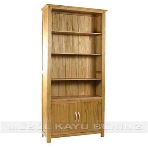 Rak Buku Jati Jepara rak buku jati model minimalis sefia dengan 2 pintu