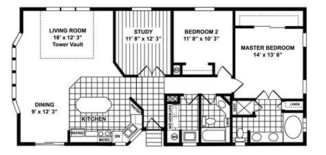 1378 sq ft manufactured home floor plan