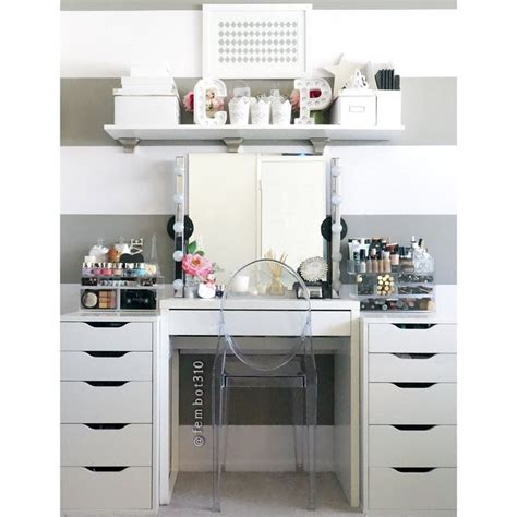 ikea alex and mickey desk diy makeup vanity cool makeup makeup vanity ikea makeup vidalondon