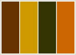 what colors go well with brown colorcombo108 with hex colors 663300 cc9900 333300 cc6600