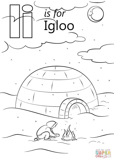 letter i is for iguana coloring page free printable letter i is for igloo coloring page free printable