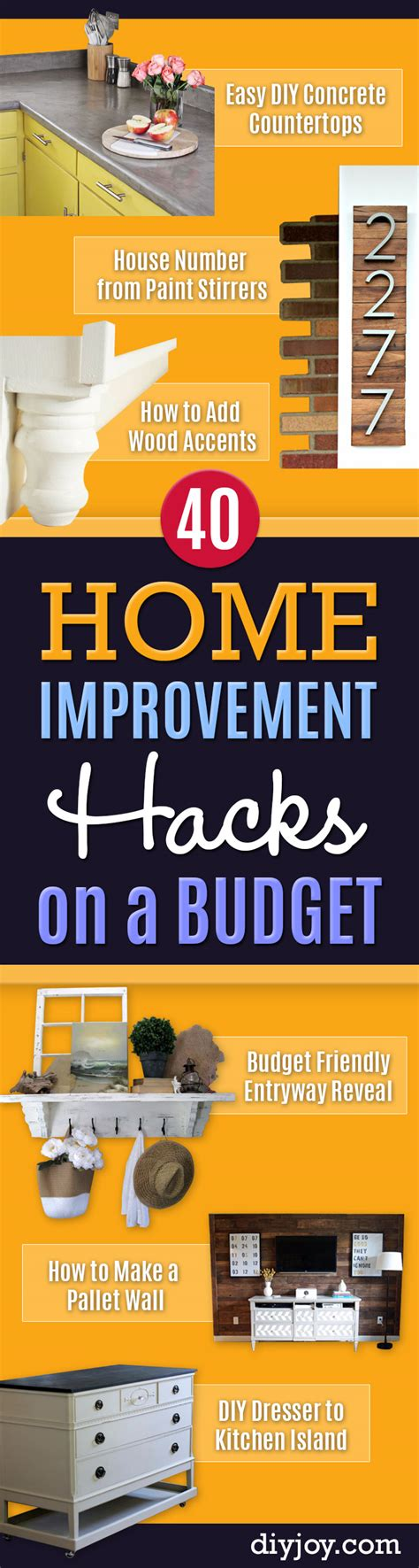 40 home improvement ideas for those on a serious budget