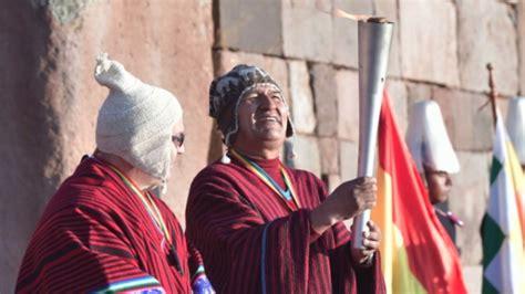 Morales Fuego evo morales encendi 243 el fuego de los juegos sudamericanos