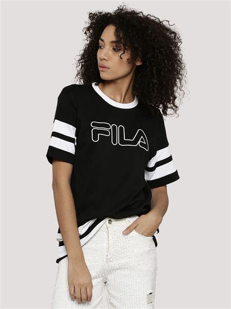 T Shirt Fila 2 buy fila black stripe t shirt for s black t