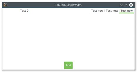 qt layout wrong qtbug 48993 tabbar set wrong width for tabs dynamically