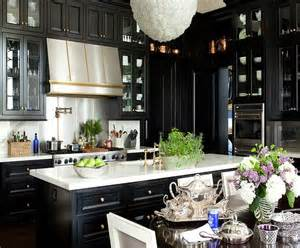 black hardware for kitchen cabinets black cabinets gold hardware design ideas