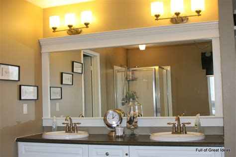 Bathroom Mirror With Frame Of Great Ideas How To Upgrade Your Builder Grade Mirror Frame It