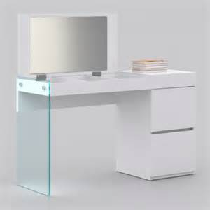White Lacquer Vanity Desk Miami And Aventura Contemporary And Modern Furniture Cb