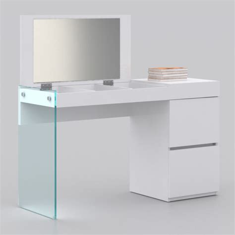 Modern Vanity Desk Miami And Aventura Contemporary And Modern Furniture Cb Xen White Lacquer Vanity Desk Hervalusa