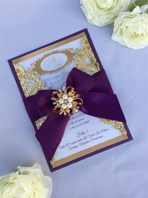 purple wedding invitations boxes 271 best charro xv theme images on pinterest