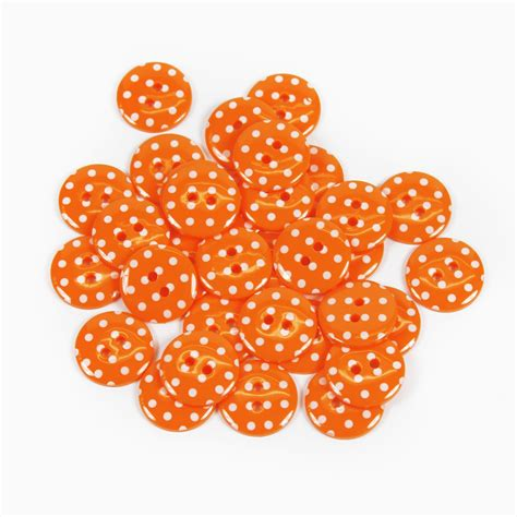Ff Polka Pack10 spotty polka dot buttons 12 colours 5 sizes packs of 2 10
