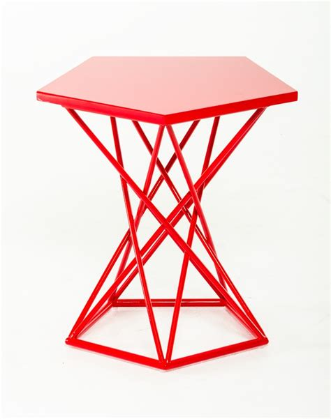 Geometric Side Table Demi Geometric Side Table Brickell Collection Modern
