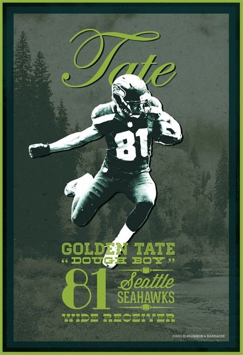 printable seahawks poster golden tate seattle seahawks 12th man football
