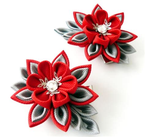 Jepit Rambut Hairbow Hjr043 158 best jepit rambut images on kanzashi flowers ribbon flower and ribbons