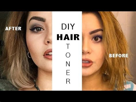 diy hair toner for yellow hair