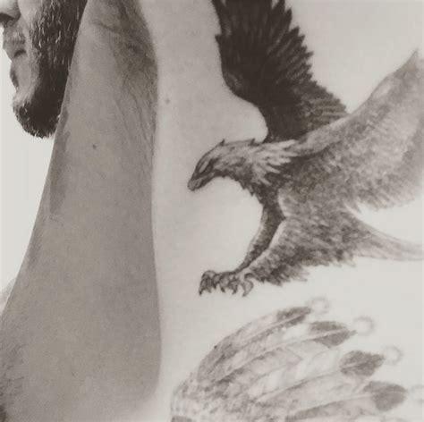 beckham bird tattoo david beckham flaunts new eagle tattoo on instagram
