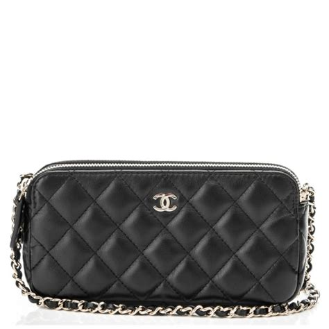 Chanel Beckham Designer And Chanel Quilted Clutch by Chanel Lambskin Quilted Small Clutch With Chain Black 182318