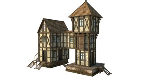 Medieval House 1b   PNG by fumar porros on DeviantArt