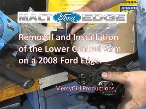 2008 ford edge rear shock removal and installation youtube 2008 ford edge ball joint and lower control arm lca removal and replacement youtube