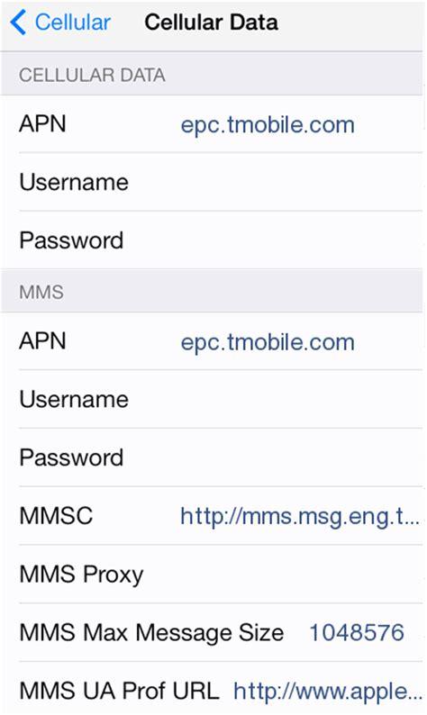 mobile apn settings t mobile 4g lte apn settings for iphone 6 6s us 4g