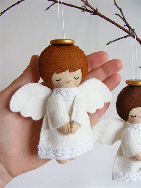 christmas decorations pattern felt ornaments by bigdreamsupply pdf pattern felt angels christmas tree ornaments por