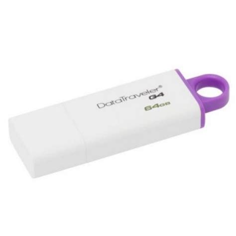 Kingston Datatraveler Generation 4 Dtig4 64gb Purple T2709 kingston 64gb usb 3 0 memory pen datatraveler g4 white