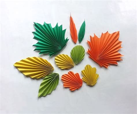 paper leaves craft paper crafts