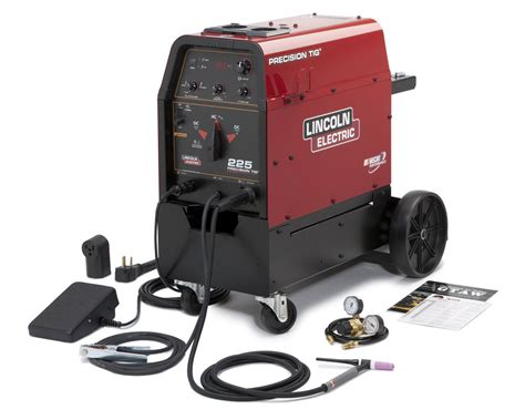 lincoln precision tig 225 welder with cart tig rod
