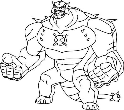 Ben Ten Omniverse Coloring Pages by Ben 10 Omniverse Houmungasour Free Coloring Pages