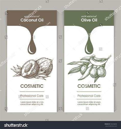 Vector Set Templates Packaging Cosmetic Label 스톡 벡터 394246858 Shutterstock Packaging Label Design Template