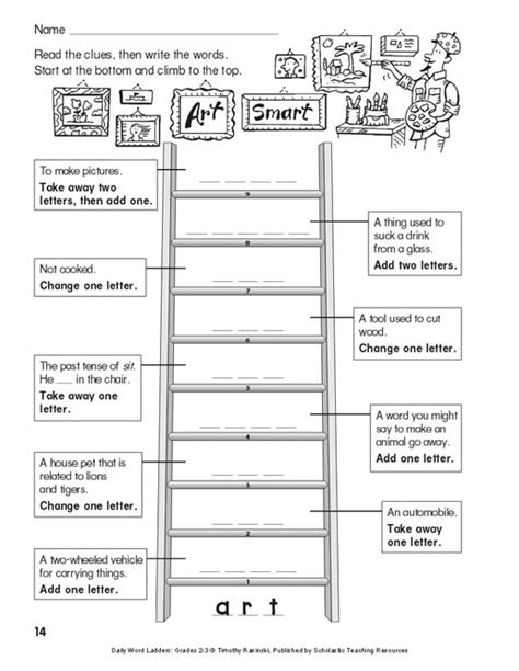 Word Ladder Worksheets by Daily Word Ladders Grades 2 3